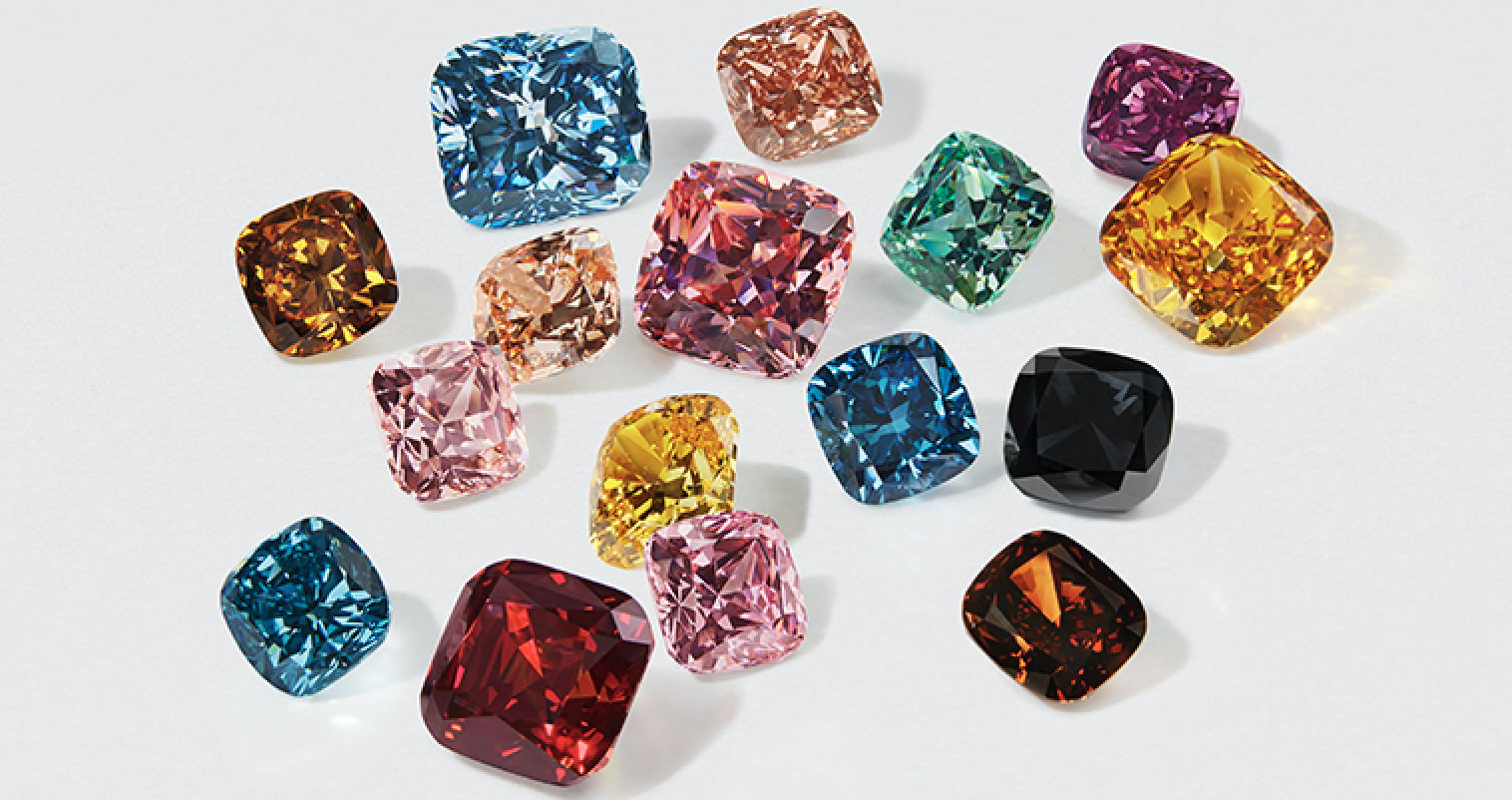 The new fancy colour lab-grown diamonds range from Swarovski.