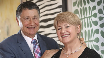 Shiels Jewellers owner Albert Bensimon, pictured with wife Nyra, has been made a Member of the Order of Australia.