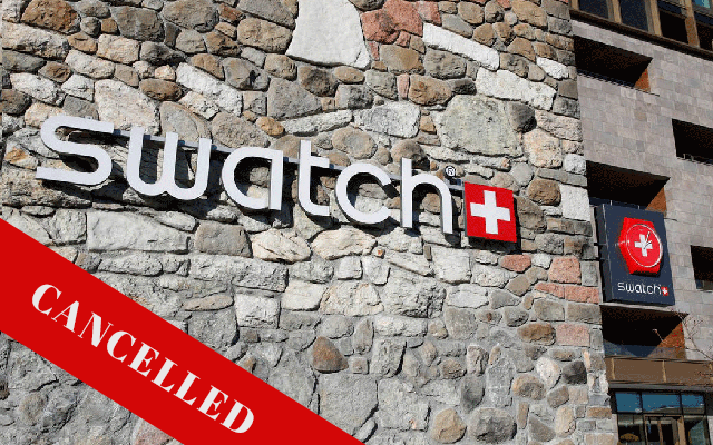 Swatch Group cancels major retail event