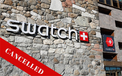 The Swatch Group Time To Move product launch event has been cancelled.