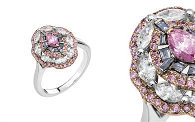 The Blue Danube ring from Pink Kimberley is an exquisite expression of Argyle diamonds.