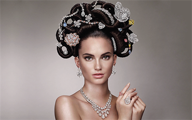 Graff diamonds recreates its iconic 1970s campaign for its 60th anniversary in 2013