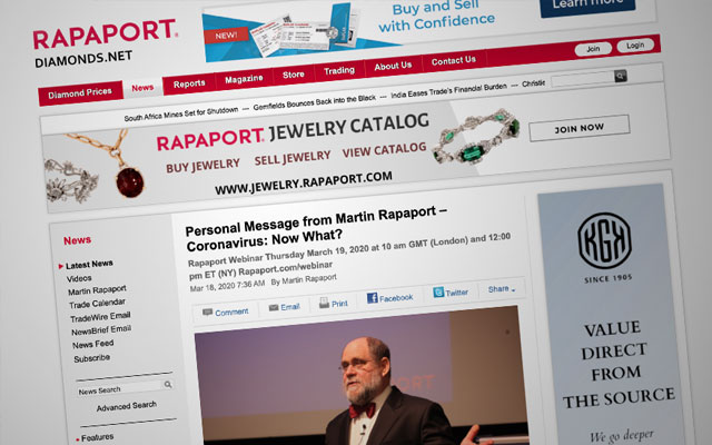 Furore over Rapaport as diamond prices fall