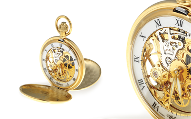Classique's mechanical skeleton pocket watch
