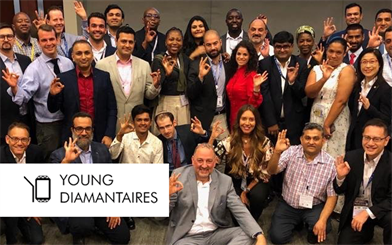 Young Diamantaires – members pictured in 2019 – has launched a new website as it prepares to expand its membership.