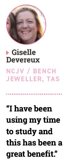 Giselle Devereux, NCJV / bench jeweller, TAS