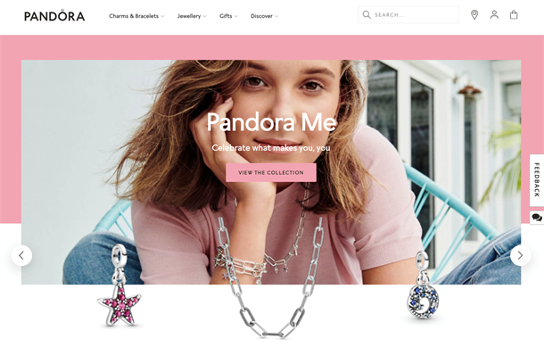 Pandora has shifted its focus to a younger generation of consumers through the use of Gen Z celebrity spokespeople like Millie Bobby Brown (below).