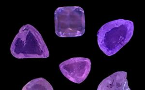 The fancy yellow diamonds – unearthed by India Bore Diamond Holdings – display a rare purple fluorescence.