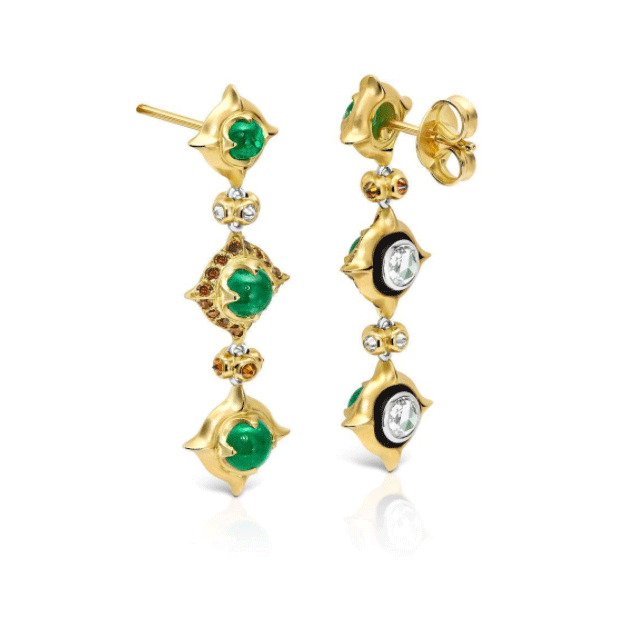 'Pagoda' earrings by Gerard Wollaston. Photography Credit: JAA Australasian Jewellery Awards Entry