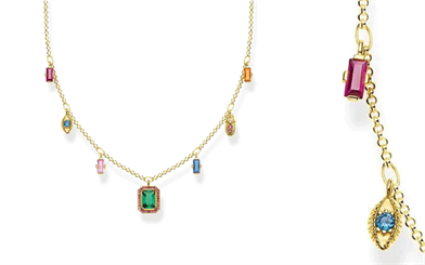 The Colourful Lucky Symbols necklace by Thomas Sabo