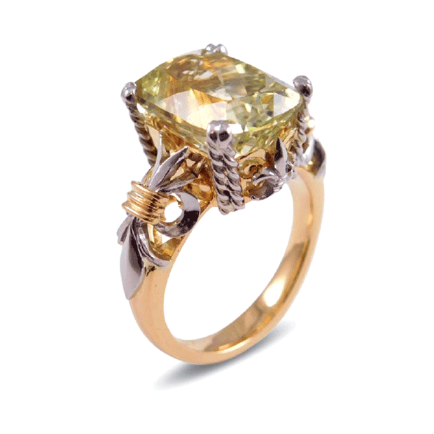 Hiddenite Dress Ring