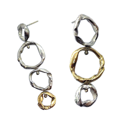 'Get Knotted' mismatched earrings by Claire Antill