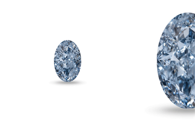 Fancy Intense Blue oval-shape diamond in VVS clarity from Kunming Diamonds.