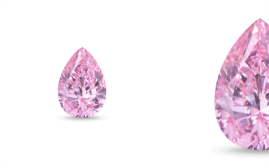 The pear-shaped VS2 pink diamond from Kunming Diamonds.