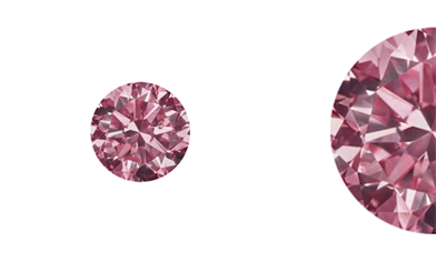 Kunming Diamonds' round brilliant cut Fancy Intense Purplish Pink diamonds.