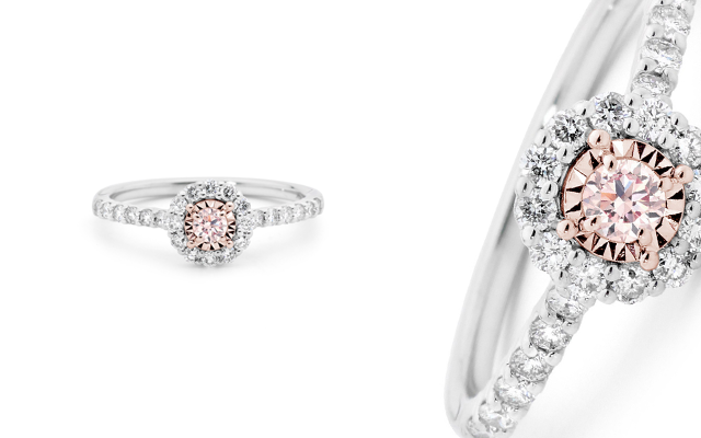 The Argyle Pink Moon ring from KL Diamonds.
