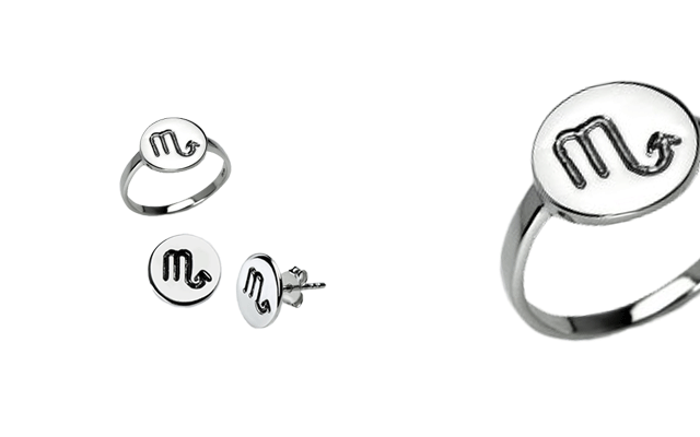 The new Zodiac Range of rings and stud earrings.