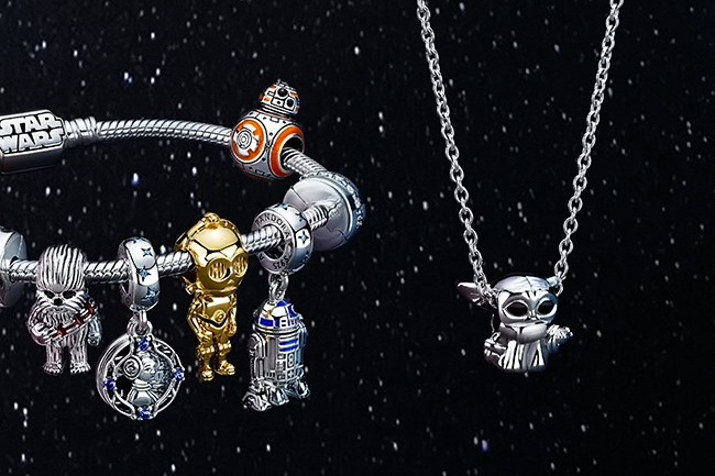 Sales and revenue have rebounded for Pandora Jewelry, despite the ongoing uncertainty of the COVID-19 pandemic. Image: The Pandora x Star Wars collection launched in October.