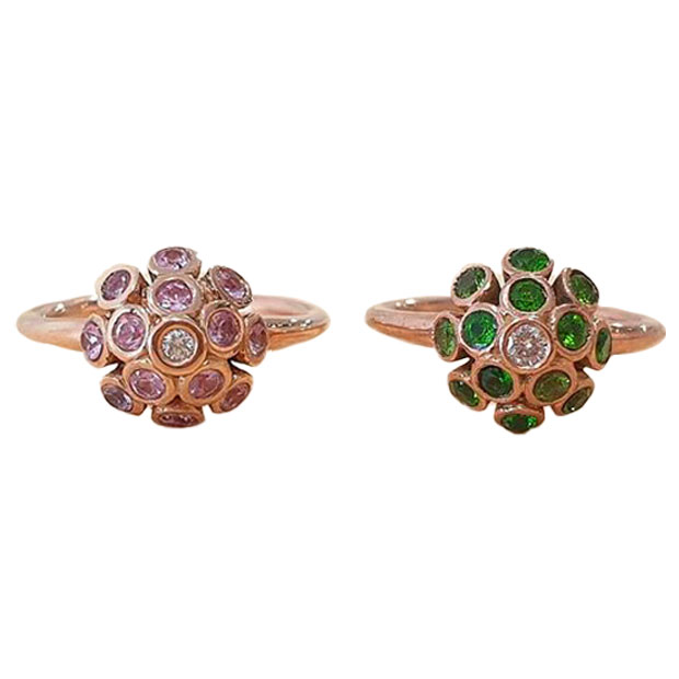 'Spring Colours' rings by Rob Wright.