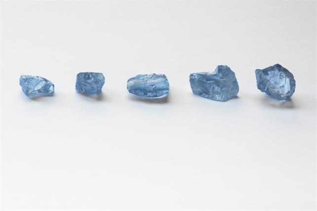 The Tetlapa Tala Collection of blue diamonds, from the Cullinan Mine in South Africa, has been sold at tender. Image credit: Petra Diamonds