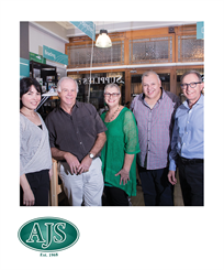 Whether it's through the website's live chat or in one of our branches, AJS' expert team is ready to serve the trade. L to R: Aletia Harper, Chris Harrison, Rene Vera, and Selwyn Brandt.