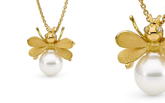 Allure South Sea's bestselling Bumble Bee pendant.