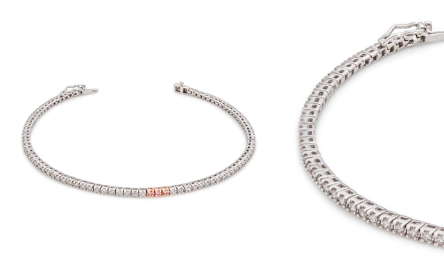 Lost River Diamonds presents a diamond tennis bracelet.