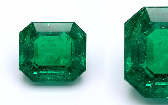 Colonial Gemstones range of untreated natural emeralds come in a variety of shapes and sizes of 2–5 carats.