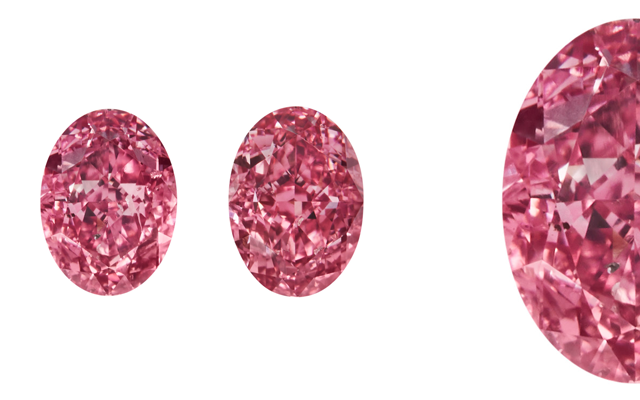 RR Diamonds successfully acquired matching pair of scintillating fancy vivid purplish-pink oval diamonds. these
