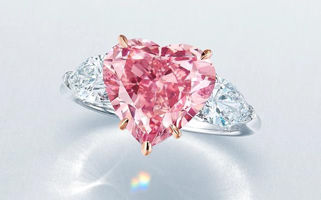 The Sweet Heart – a 4.19-carat heart-shaped vivid pink diamond ring, bought for $US6.56 million. Image credit: Christie