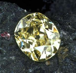 The Eureka Diamond was the first diamond discovered in South Africa and originally weighed 21.25 carats. It was later cut to a 10.73-carat cushion and is presently on display at the Mine Museum in Kimberley.