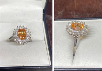 An engagement ring crafted in Starium.