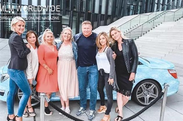 Jesper Nielsen with some of his multi-level-marketing