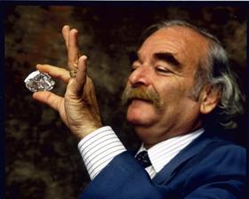 Gabi Tolkowsky holding the completed Centenary diamond
