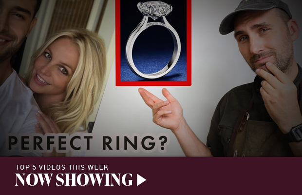 Now Showing: Britney Spears' 'perfect' celebrity engagement ring?; metallic gemstones; and almost ruining a $10,000 opal