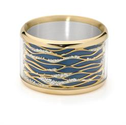 Martyn Brown and Martin Linning's 'Undulation' bangle helped them win JAA Jeweller of the Year.