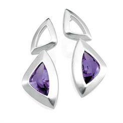 Daniel Bentley South Atlantic amethyst earrings