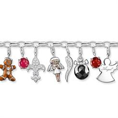 A selection of Thomas Sabo's new festive charms.