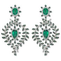 Emerald fern earrings by Asprey