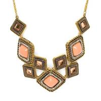Nectarine statement necklace