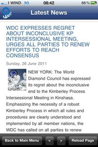 The WDC app provides the latest news to readers