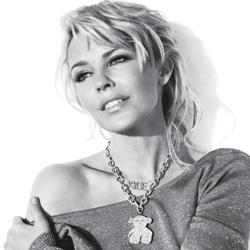 Kylie Minogue poses for a Tous jewellery advertising campaign.