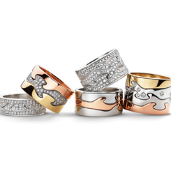 Georg Jensen's iconic 'Fusion' puzzle rings