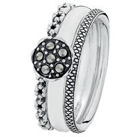 """Trendy"" combination ring"