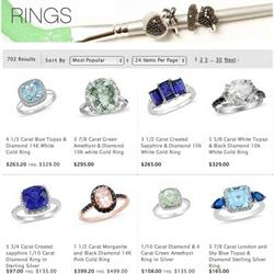 A selection of rings available on iceonline.com.au