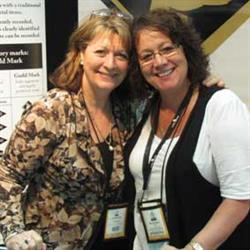 Left to right: PR representative Julianne Richards, and Gold and Silversmiths Guild of Australia president Bronwyn Pratt