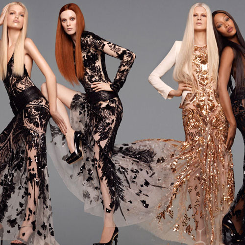 Robert Cavalli's bold and design-forward SS 2012 campaign embodies all elements of Swarovski's 2013 trends