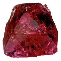Ruby uncut crystal