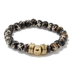 La Chance Bone Bead bracelets