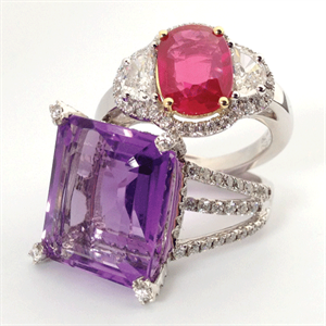 iphone 4s Modahaus TS216 ruby amethyst rings